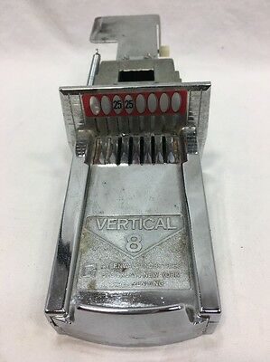 Vertical 8 coin chute assembly for laundry laundromat machines, set at $0.50