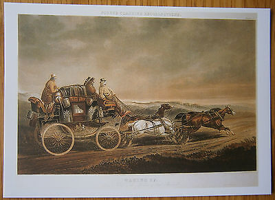 Mail Coach Postcard Fore's Coaching Recollections Waking Up Plate IV Post Office