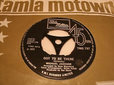Michael Jackson - Got To Be There  Tmg 797 Uk 1971