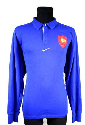 Shirt Nike Rugby Union France Home Jersey Long Sleeve Camiseta Size (Xxl)