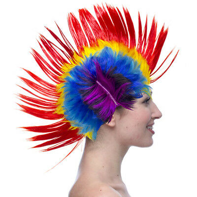 Any size elasticated Mohawk Wig Mohican Funny Rock Fancy Dress Party Costume kid