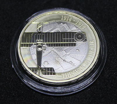 ~~ 2017 Royal Mint First World War Aviation WWI Proof Two Pound £2 Coin ~~