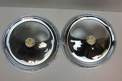 "Vespa Chrome 10"" Wheel Rim Cover Pair"