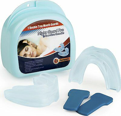 Mouth Guard for Teeth Grinding by NGP - 2 Anti Snoring Devices to Prevent TMJ -
