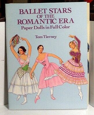 1991 Ballet Stars of the Romantic Era Paper Doll Book by Tom Tierney