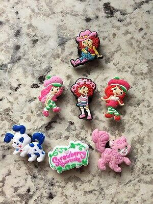 New Strawberry Shortcake shoe charm set of 7 USA Seller+Free Shipping
