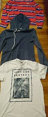 Mens hollister size small tops/hoodie bundle