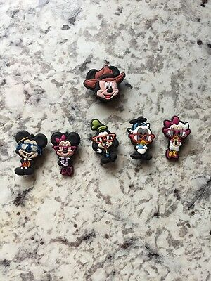 Mickey Mouse shoe charm/Cake Topper/Hair Bows/ PartyGift set of 6 🇺🇸