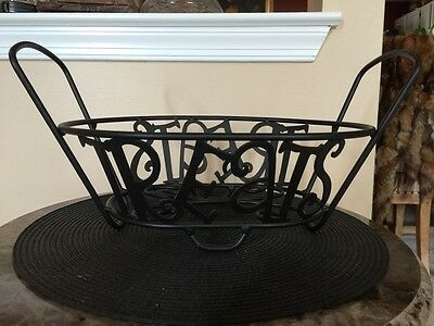 Longaberger Wrought Iron Treats Basket Holder