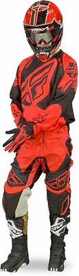 "New 32"" M 2017 Adult Fly Evolution Rev Jersey Pants Kit Black/Red MX Sale! CRF"