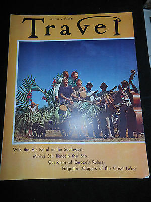 Travel Magazine July 1937 ~ Grace Line Cruises Back Cover