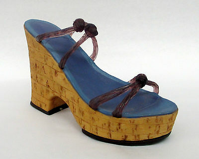 "Just the Right Shoe ""Cork Wedge"" NIB Collectible JTRS #25093 w/ COA"