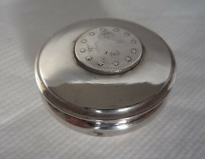 TURKISH / OTTOMAN c1900 SOLID / STERLING SILVER COIN SNUFF / TRINKET BOX