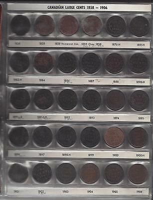 Collection of Canada Large and Small Cents 1858-1991 BEAUTIFUL!! KEY DATES!