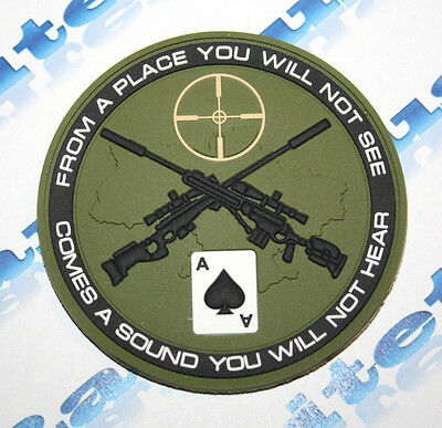 3D Pvc Army Morale Patch Ukrainian Snipers Swat * Olive