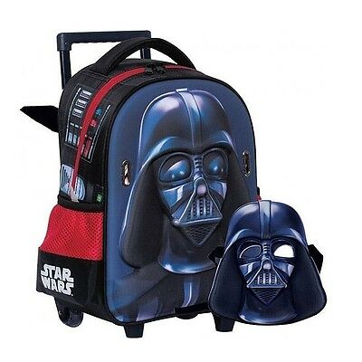 Sac à roulettes trolley maternelle Star Wars Dark Vador 31 CM + Masque