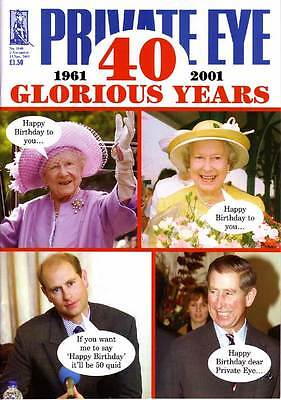 Private Eye Mag # 1040 2 November 2001 Prince Edward  HRH Charles HM Queen cover