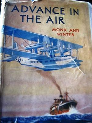 """1930s H/B BOOK BLACKIE """" ADVANCE IN THE AIR"""" MONK & WINTER 200 pages Good"""