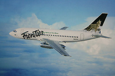 AK Airliner  Postcard FRONTIER B.737 airline issue ?