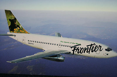 AK Airliner Postcard FRONTIER B.737 airline issue??