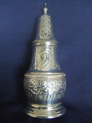 Vintage Silver Plated on Copper Embossed Sugar Sifter Dredger A1 Condition
