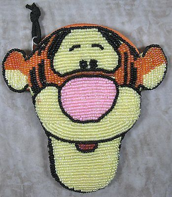 Disney Tigger Beaded Coin Chaing Purse with Zipper