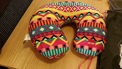 Travel Pillow Neck Support by Ale-Hop Multi Coloured Massage Facility