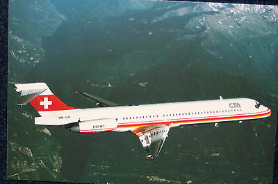 AK Airliner  Postcard CTA MD-87 airline issue