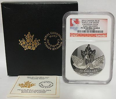 2016 Canada $10 Maple Leaf Shape Canadian Geese NGC PF 70 Certified Coin - JV561