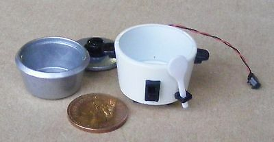 1:12 Scale Dolls House Miniature Non Working Three Piece Metal Rice Cooker