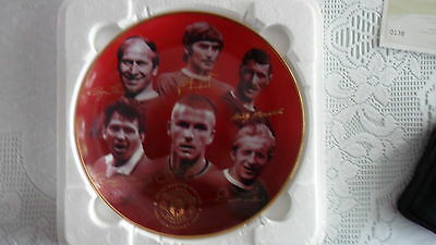 Manchester United, Danbury Mint Fine Porcelain Plate, 100 Glorious Years