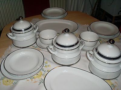 6 Pers.Speiseservice Winterling Marktfleuthen Platinrand Top