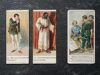 Cigarette Cards - SHAKESPEARE - Cope 1900 x 2 - Ogdens 1903 x 1