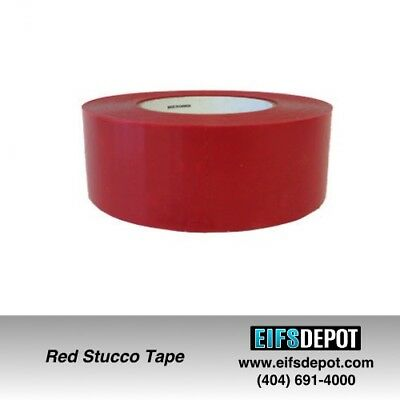 Red Stucco Tape 234 UV Resistant 2″x 60 Yards (24 Rolls)