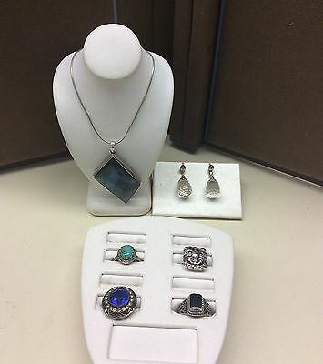 6 Sterling Silver Items (Upcycle & Recycle) Gifting Wearing Not Scrap