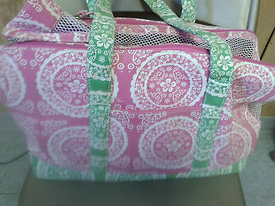 Pink, Green & White  Pet Carrier
