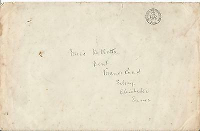 Gb Kgv Buckingham Palace Paid Undated Cover With Royal Crest