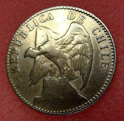 Chile, 20 Centavos 1919, Km# 151.3, Nice Silver Coin, Lot 10