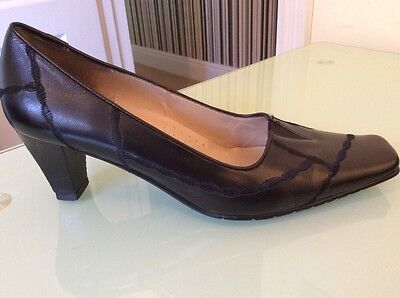 Lotus Black Leather Court Shoes Uk Size 4.5 Immaculate