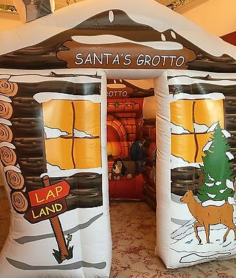 Inflatable Christmas Grotto (8ft X 8ft) Fan And Printed Groundsheet Never Used