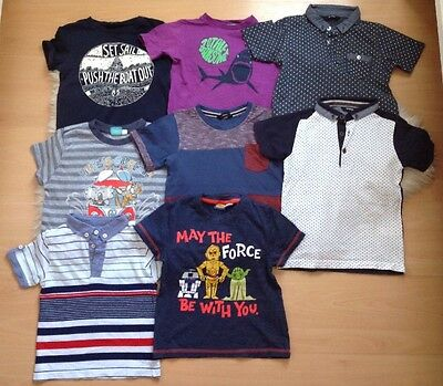 Boys Age 4-5 Years Clothing Bundle ~ George ~ Mothercare ~ T-Shirts! 8 Items