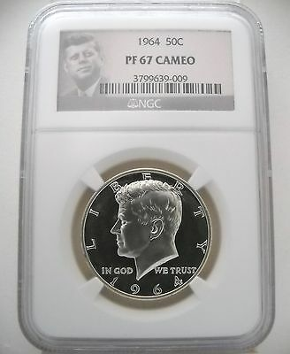 1964 Ngc Pf67 Cam Proof Kennedy Half Solid Even Cameo Devices Fantastic!