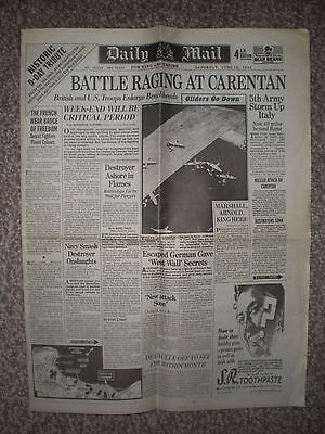 DAILY MAIL Historic D-DAY Tribute (Day 4) 10th June 1944.