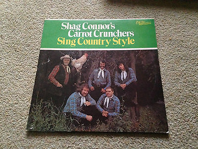Shag Connor's carrot crunchers sing country style Vinyl LP