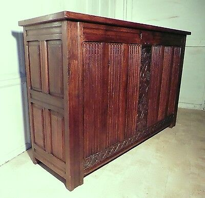 Large French Carved Oak Cupboard