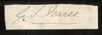 Vice-Admiral Sir George Nares Kcb [1831-1915] Artic Explorer Clipped Autograph