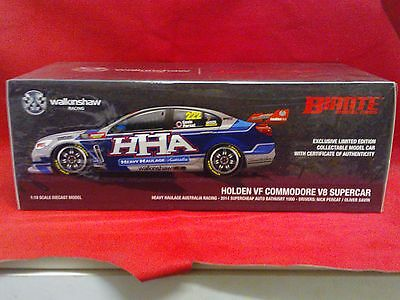 2014 Bathurst 1000 3rd 1:18 Scale Holden VF Commodore V8 Supercar Percat signed