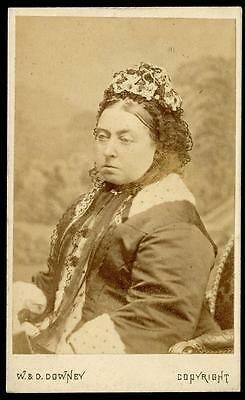 QUEEN VICTORIA [1819-1901] CDV by W. & D. DOWNEY, NEWCASTLE-UPON-TYNE, 27/2/1872
