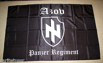 Flag Azov Battalion Regiment Tank Unit Ukrainian Army 120*80 Cm New Rare