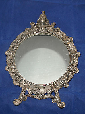 Antique Priests Of Pallace Kansas City Metal Souvenir Mirror Frame Pop 1902